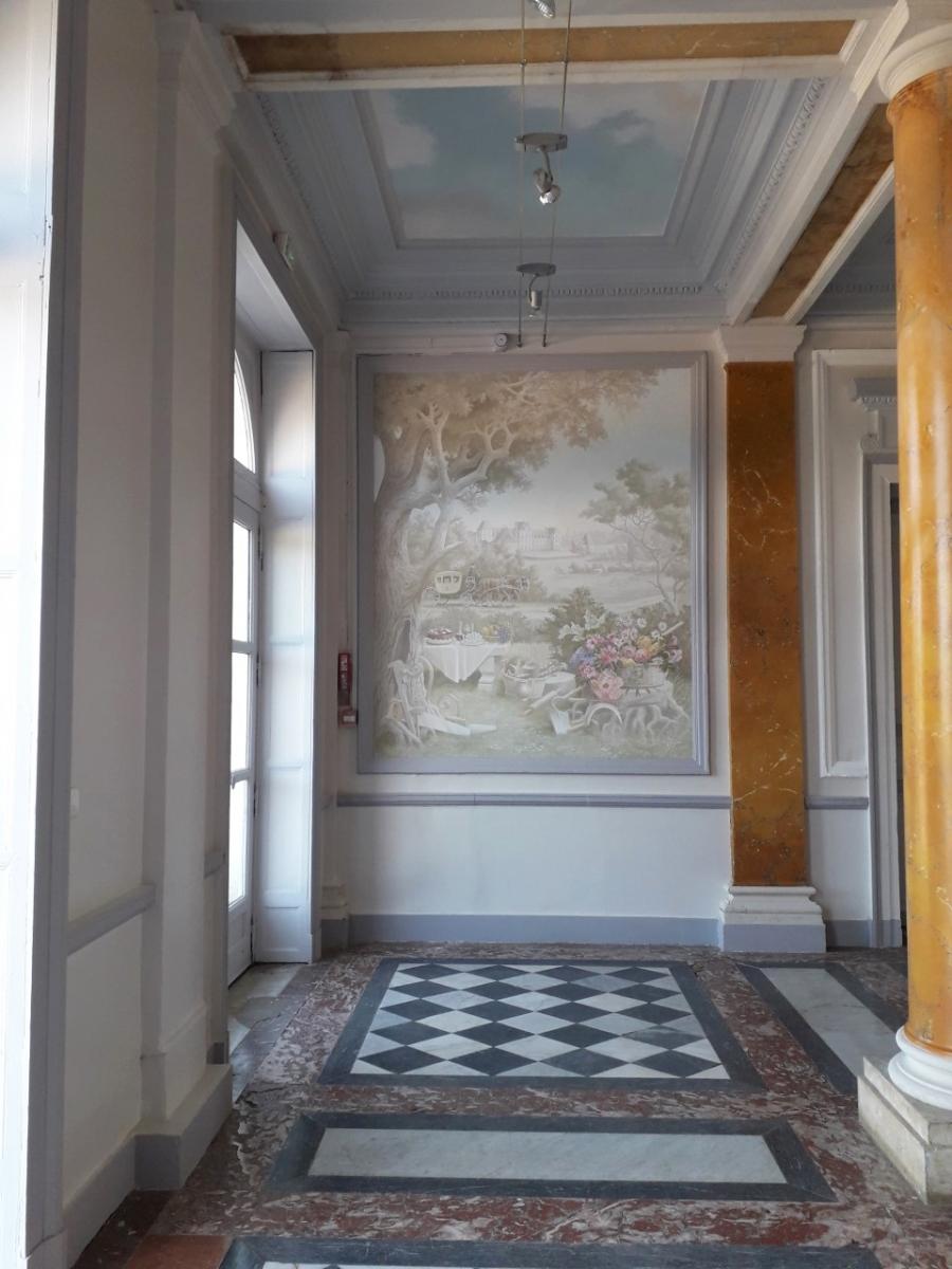 Château des Vaux Fondation Apprentis d'Auteuil5  fresque en trompe l'oeil