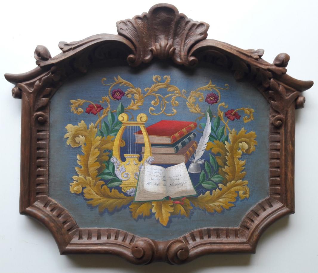 Cartouche Ornementé  fresque en trompe l'oeil